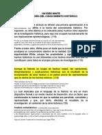 HAYDEN WHITE Y LA TEORÍA DEL CONOCIMIENTO HISTÓRICO (Recuperado automáticamente)