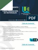 3.1 Comportamiento Y Caracterización de Materiales