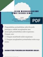 Pengendalian mikroorganisme (PMO) secara kimia