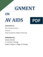 ASSIGNMENT AV AIDS.docx