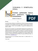 Ecología y Enseñanza Rural