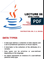 CSE325Lecture6DataTypes
