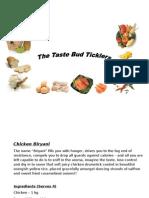 The Taste Bud Ticklers - Chicken Biryani
