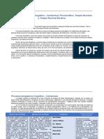 Procesos terapéuticos Cognitivo – Conductual, Psicoanalítico, Terapia Narrativa y Terapia Racional Emotiva.