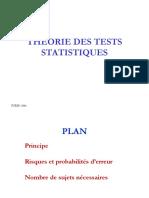 Théorie des tests statistiques