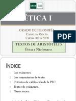 ETICA I. Textos de Aristóteles
