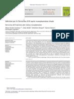 Infection par le Parvovirus B19 après transplantation rénale