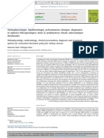 Pathophysiologie, épidémiologie, présentation clinique, diagnostic de la polykystose