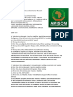 AMISOM Launches Environmental Standard Operating Procedures