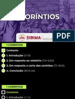 Aula 01 SIBIMA  - 1 Coríntios