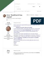 Error_ _RockPack III has expired_ - Other Programs... - RockWare Support Forum