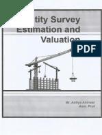 Quantity Survey Estimation and Valuation Numericals