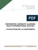 Catalogue de normes NA ISO CEI Evaluation de la conformité