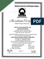NABCB Certificate