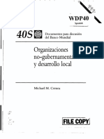 Cernea, M. – NGO's and local development – WB Discussion papers 40 (1989)