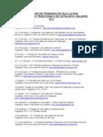 Calendari de trobades 2011