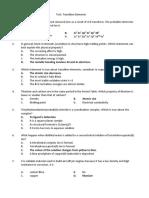 Test Transition Elements