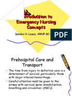 Introduction to Emergency Nursing Concepts Final