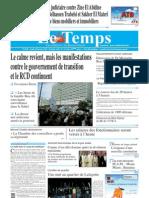 Le Temps, quotidien tunisien, 20 janvier