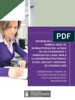 Informe-Encuesta Interactividad eGobierno Canarias 2008