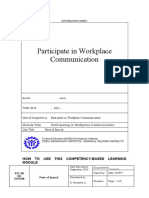 Participate in Workplace Communication 1