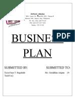 ENTREP_B. Plan Xzftional Bakeshop