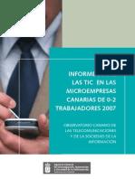 Informe-Encuesta sobre las TIC en las microempresas canarias 2007