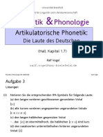 Artikulatorische Phonetik
