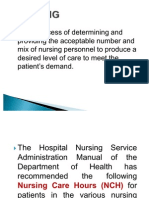 Nursing Leadership and Management Staffing