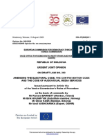 CDL-PI(2020)011-e Moldova, Republic of – Urgent joint opinion on the draft Law no. 263 amending the Electoral Code, the Contravention Code and the Code of Audiovisual Media Services
