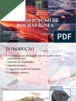 CLASSIFICAÇÃO DE ROCHAS ÍGNEA