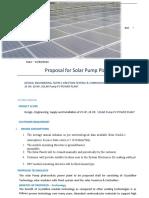 25 HP & 20 HP Solar Pump Quatation