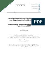 SIM Qualitaetsleitlinien IV Gutachten