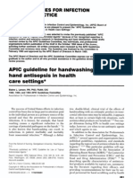 APIC guideline for handwashing and