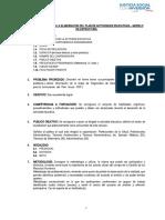Estructura para elaborar el Plan de Actividades Educativas_ 2018