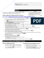 Crystal Reports Cheat Sheet 200