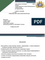 Гуцко Денис (Тяжелые металлы в питьевой воде)