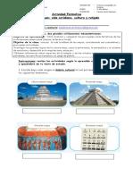 Actividad Formativa Los Mayas y su desarrollo curltural y religión