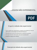 PESQUISA NÃO-EXPERIMENTAL