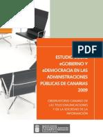 Estudio eGobierno / eDemocracia Canarias 2009