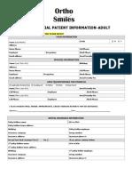 adult patient information