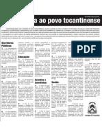 Carta Aberta Ao Povo Do Tocantins