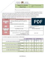 Rapport d'évaluation diagnostique