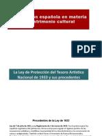Presentación Tema 7. Legislación Patrimonio Histórico Español I