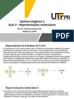QO1 - Aula 2 - Representações moleculares