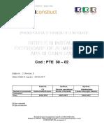 PTE  30 - 02 Retele si instalatii exterioare de alimentare cu apa si canalizare