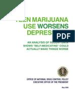 Teen Marijuana Use Worsens Depression - ONDCP