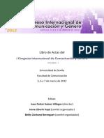LIBRO ACTAS I CONGRESO COMUNICACIÓN Y GÉNERO
