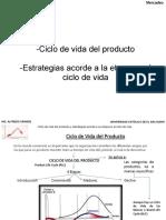 Tema 2.1  La mezcla comercial, naturaleza y clasificación de los productos, Ciclo de vida del producto y sus estrategias (1a Parte)