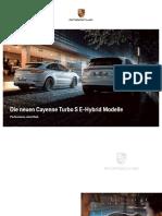 Cayenne Turbo S E-Hybrid Modelle - Broschüre